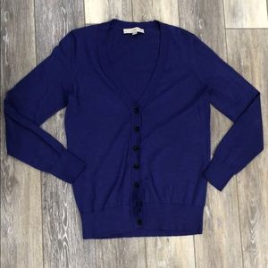 Loft blue/purple cardigan size M